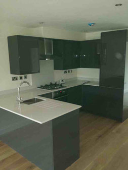 Kitchen installed in an extension